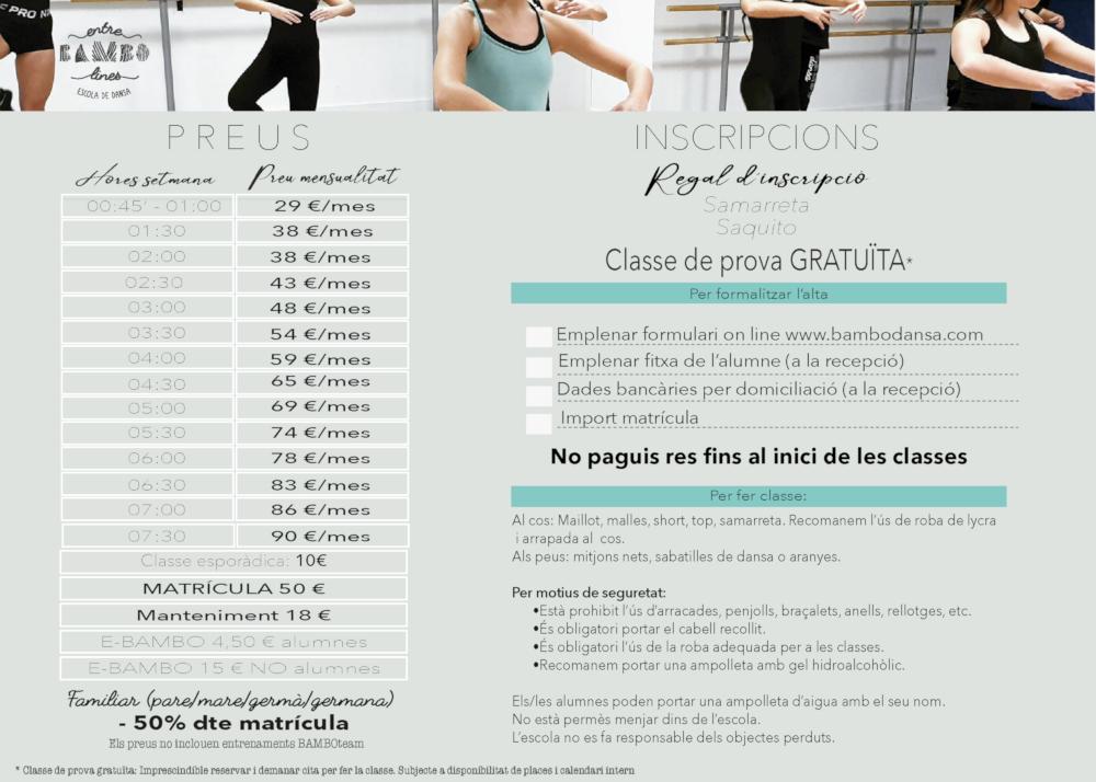 Classes de dansa d'Entre BAMBOlines a Sant Andreu de la Barca