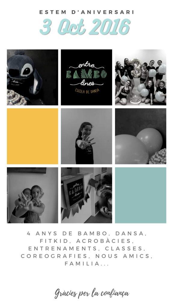 Aniversario Entre BAMBOlines Danza Acrobacia y Fit Kid